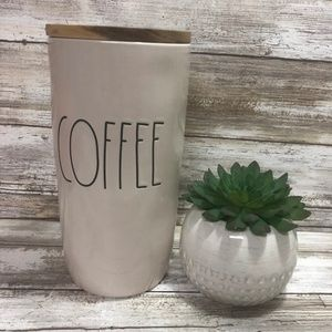 New Rae Dunn COFFEE Cellar Canister with Wood Lid